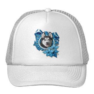 Christmas - Blue Snowflakes - Siberian Husky Hats