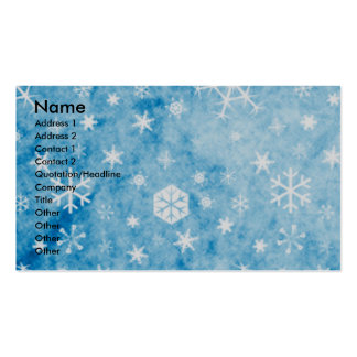 Christmas - Blue Snowflakes - Swiss Mountain Dog Business Card Templates