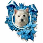 Christmas - Blue Snowflakes -West Highland Terrier Photo Cutout