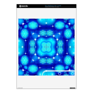 Christmas blue white snowflake pattern skins for the PS3 slim