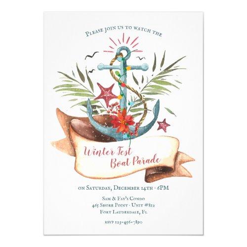 Christmas Boat Parade Anchor Invitation