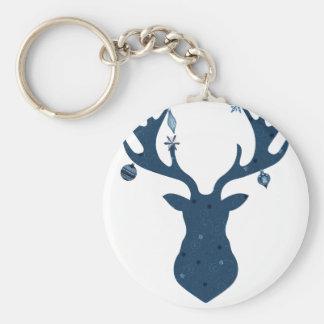 Christmas Boho Deer Head Keychain