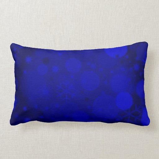Blue Lumbar Throw Pillow : Christmas Bokeh, Blue Lumbar Throw Pillow Zazzle
