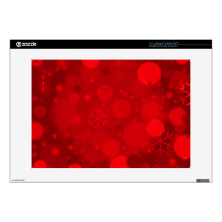Christmas Bokeh, Red-Laptop Skin 15in Decal For Laptop