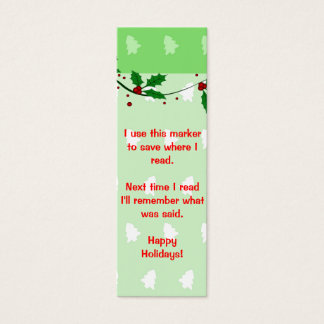 Christmas Book Marks Mini Business Card