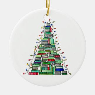 Christmas Book Tree 2017 Ceramic Ornament