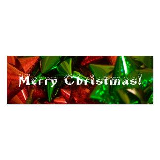 Christmas bookmark business card