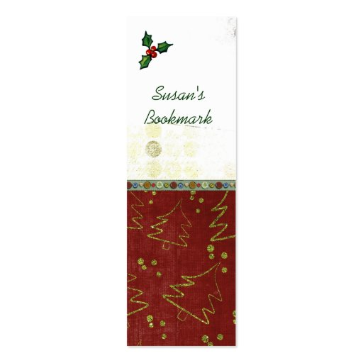 Christmas bookmarks business card template zazzle for Christmas business card template