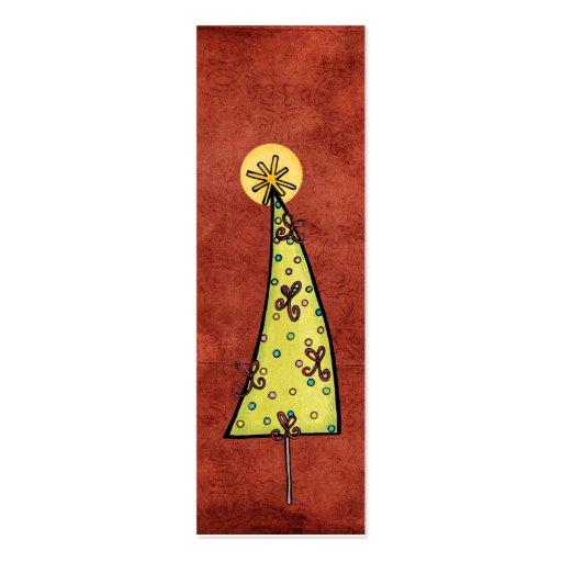Christmas Bookmarks Mini Business Card