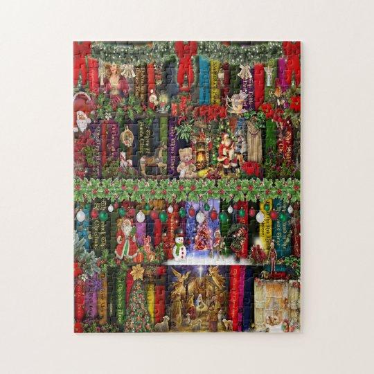 Christmas Bookshelf Jigsaw Puzzel Puzzle