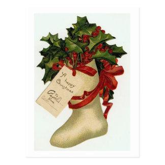 Christmas Boot Post Card