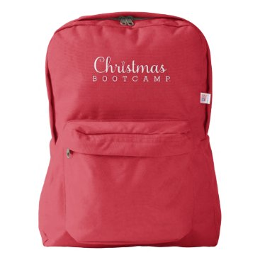 Christmas Bootcamp Backpacks | Red