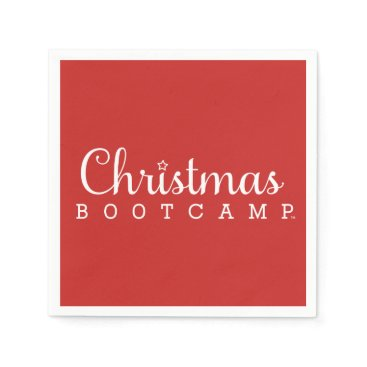 Christmas Bootcamp Cocktail Napkin | Red