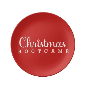 Christmas Bootcamp Plate | Red