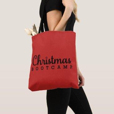 Christmas Bootcamp Tote Bag