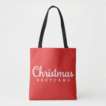 Christmas Bootcamp Tote Bag | Red & Green