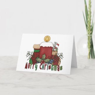 Christmas Boots card
