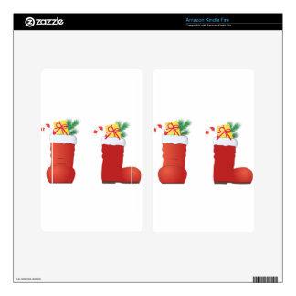 Christmas Boots Kindle Fire Skins