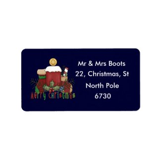 Christmas Boots label
