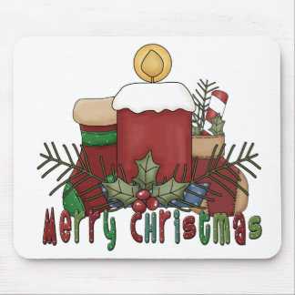 Christmas Boots Mouse Pad