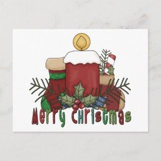 Christmas Boots postcard