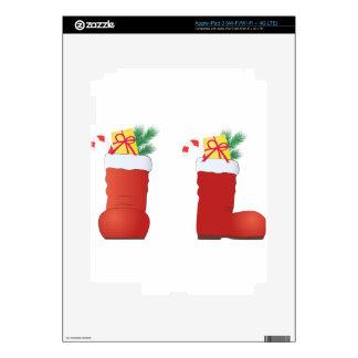 Christmas Boots Skin For iPad 3