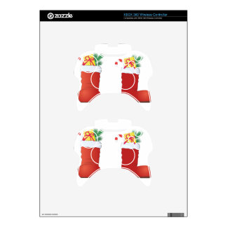 Christmas Boots Xbox 360 Controller Skin