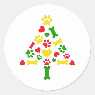 christmas border classic round sticker