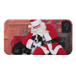 Christmas - Border Collie - Flip iPhone 4 Case