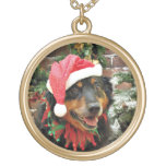 Christmas - Border Collie - Ginger Necklace