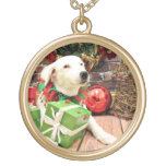 Christmas - Border Collie - Lily Personalized Necklace