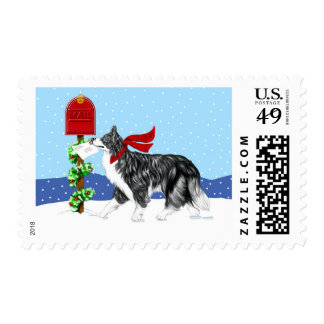 Christmas Border Collie Mail Postage