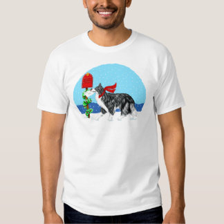Christmas Border Collie Mail T-shirt