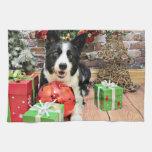 Christmas - Border Collie - Yaeger Hand Towel
