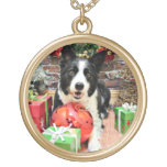 Christmas - Border Collie - Yaeger Necklace
