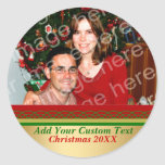 Christmas Border Your Photo & Custom Text Stickers