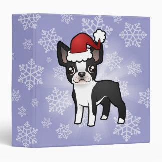 Christmas Boston Terrier Binder