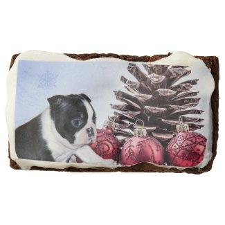 Christmas Boston terrier brownies Rectangular Brownie