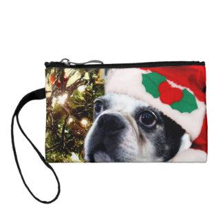 Christmas Boston terrier Coin Wallet