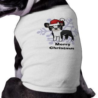 Christmas Boston Terrier Pet Shirt
