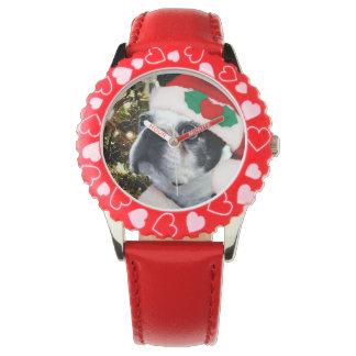 Christmas Boston Terrier dog Watch