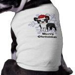 Christmas Boston Terrier Doggie Tee Shirt