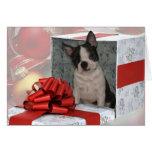 Christmas Boston Terrier Greeting Card
