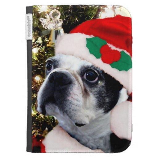 Christmas Boston terrier Kindle Covers