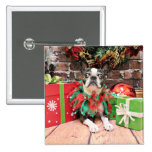 Christmas - Boston Terrier - Natty Buttons