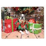 Christmas - Boston Terrier - Natty Dry-Erase Whiteboards