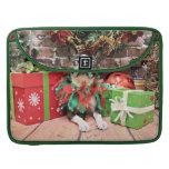Christmas - Boston Terrier - Natty Sleeves For MacBooks