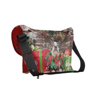 Christmas - Boston Terrier - Natty Commuter Bag