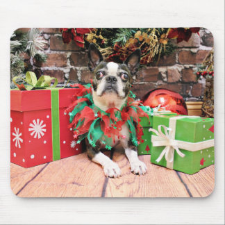 Christmas - Boston Terrier - Natty Mouse Pad