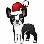 Christmas Boston Terrier Ornament